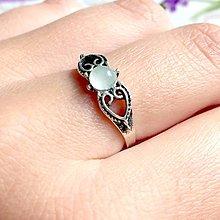 Prstene - Delicate Aquamarine Ring / Jemný vintage prsteň s akvamarínom /1107 - 10084512_
