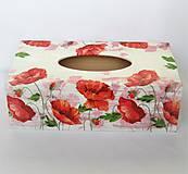 Krabičky - Krabička na servítky- vlčie maky - 10084519_