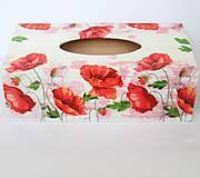Krabičky - Krabička na servítky- vlčie maky - 10084520_