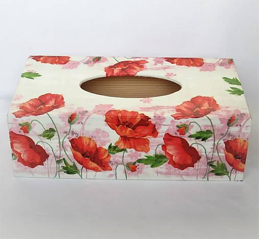 Krabička na servítky- vlčie maky