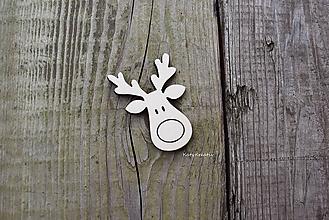 Materiál ručne robený - vianočný sobík 5cm - 10081791_
