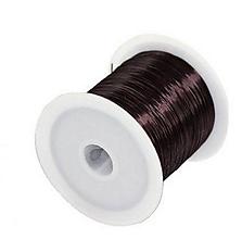 Galantéria - Elastický silikónový vlasec hnedý - 0,6mm /10m - 10085221_