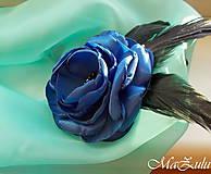 Ozdoby do vlasov - fascinátor v kráľovskej modrej - 10080464_