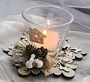 Vianočný svietnik prírodný