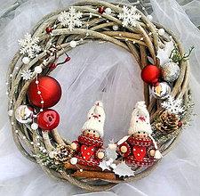 Dekorácie - Vianočný veniec 3 - 10082508_