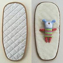 Textil - Podložka do vaničky Joolz GEO 100% merino GRIGIO grey šedá - 10080354_