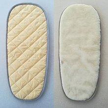 Textil - Podložka do vaničky Joolz DAY 2 100% merino ELEGANT YELLOW and GREY - 10080358_