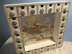 Dekorácie - Adventný kalendár - 10084964_