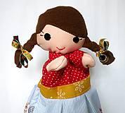 Hračky - Maňuška folk dievčinka - na objednávku - 10083741_