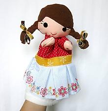 Hračky - Maňuška folk dievčinka - Ľudmilka - 10083739_