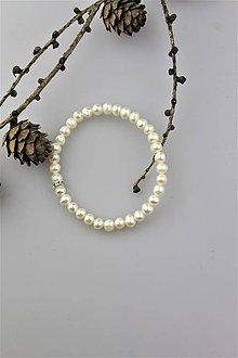 Náramky - pravé perly náramok  - perly kvalita A - 10080598_