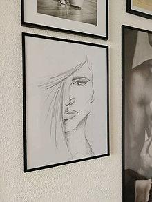 """Kresby - Portrét """"krásna"""" - 10080633_"""