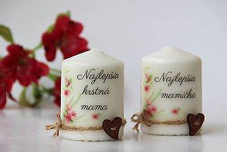 Svietidlá a sviečky - Duo dekoračných sviečok - 10084374_