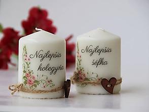 Svietidlá a sviečky - Duo dekoračných sviečok - 10084399_