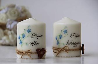 Svietidlá a sviečky - Duo dekoračných sviečok - 10084417_