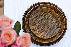 Nádoby - Dezertný tanier - medová kolekcia - 10084541_