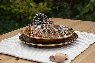 Nádoby - Hlboký tanier - medová kolekcia - 10084693_