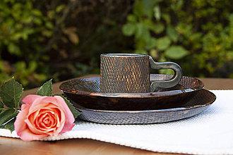 Nádoby - Plytký tanier - medená kolekcia - 10085223_