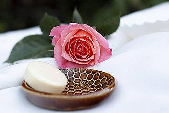 Nádoby - Mydelnička - medová kolekcia - 10085317_