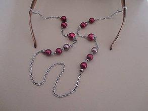 Iné šperky - Retiazka na okuliare s veľkými perlami - chirurgická oceľ - 10084565_