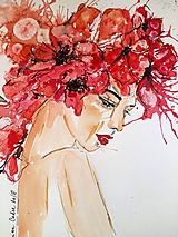 Obrazy - Akvarelový obraz - Leto - 10084639_
