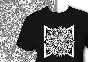 Oblečenie - Pánske tričko čierne - Mandala - 10081461_