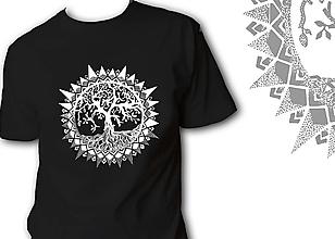 Oblečenie - Pánske tričko čierne - Strom - 10081783_