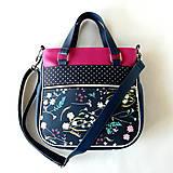 Veľké tašky - Big Sandy - Tmavomodrá s kvetmi - 10082444_