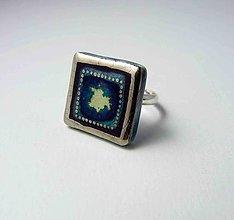 Prstene - Tana šperky - keramika/platina - 10080530_