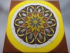 Obrazy - Piesková mandala 40x40cm - 10081922_