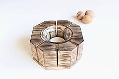 Svietidlá a sviečky - Dubový svietnik - 10083534_