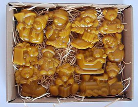 Dekorácie - Vianočné ozdoby v krabičke (mackovia a snehuliaci) - 10085285_