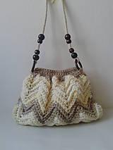 Háčkovaná kabelka na rameno- béžová