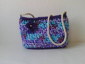 Kabelky - Háčkovaná kabelka dúha - 10082357_