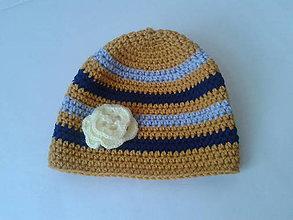 Detské čiapky - pruhovaná čiapka - 10082463_