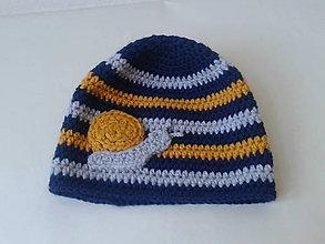 Detské čiapky - pruhovaná čiapka pre chlapčeka - 10082528_
