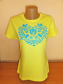 Tričká - Ručne maľované tričko srdiečko - 10082491_