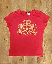 Detské oblečenie - Detské maľované tričko - 10083006_