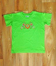 Detské oblečenie - Detské maľované tričko - 10083110_