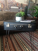 Nábytok - stolík alá starý kufor - 10080412_