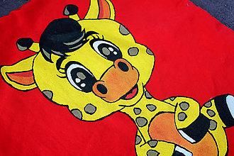 Úžitkový textil - obliečka na vankúš do detskej izby - žirafa - 10081561_