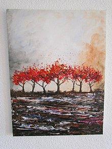 Obrazy - Červené Stromy / Red Trees - Originál (Akryl) - 10081850_