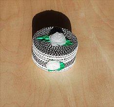 Krabičky - Krabička - šperkovnička - biely kvet - 10080438_