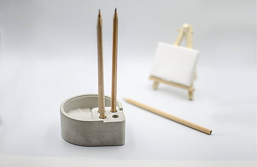 Pomôcky - Betónový držiak na ceruzky Scribo - 10080783_