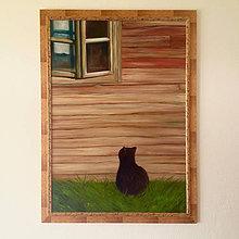 Obrazy - Na vidieku - obraz, olejomaľba - 10080540_