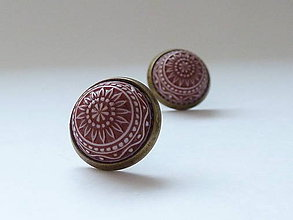Náušnice - Sommer feeling ... chocolate brown mosaik II - 10083059_