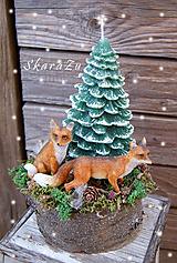 Dekorácie - Líštičky v lese - 10084483_