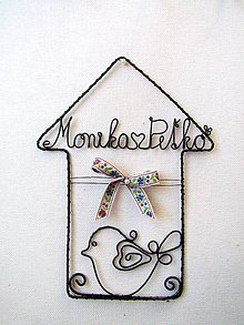 Dekorácie - domček s menom - 10083177_