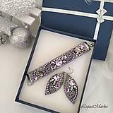 Sady šperkov - Romantika v šedom...sada v darčekovom balení - 10083769_