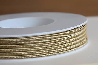 Galantéria - Šujtášová šnúrka champaigne 3mm, 0.22€/meter - 10084236_